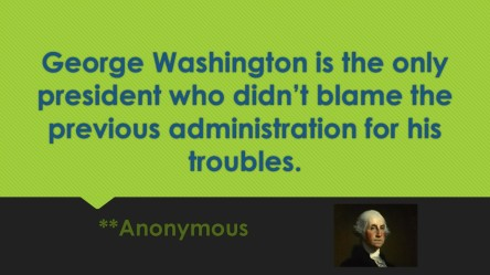 george-washington-is-the-only-president-who-didnt